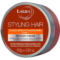 Lacan Styling Hair - Pomada Defrizante Modeladora 100G - Kanui