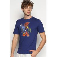 Camiseta Cavalera T Shirt Pica Pau Molotov Masculina - Masculino-Azul Escuro
