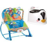Kit Com Cadeirinha De Descanso - Crescendo Comigo Sapinho E Troninho Infantil - Pinguim - Fisher-Price