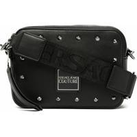 Versace Jeans Couture Bolsa Transversal Com Aplicação De Tachas - Preto