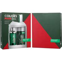 Kit Colors Man Green Benetton - Perfurme Masculino Eau De Toilette 100Ml + Desodorante 150Ml - Masculino-Incolor