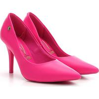 Scarpin Vizzano Bico Fino Salto Alto Básico - Feminino-Pink