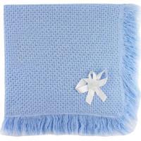 Manta De Tricot Michelle Baby Azul Claro..