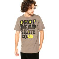 Camiseta Drop Dead Photocopy Marrom