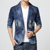 Blazer Jeans Masculino - Azul Pp