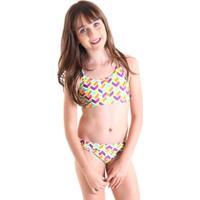 Biquíni Infantil Líquido Surf - Feminino-Amarelo