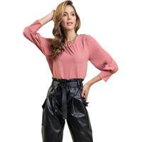 Blusa Mx Fashion Com Botões Maristela Goiaba - Kanui