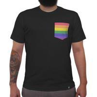 Rainbow - Camiseta Clássica Com Bolso Masculina