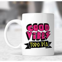 Caneca Good Vibes Todo Dia Pink By Jesus Felizão