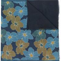 Dell'Oglio Echarpe Com Estampa Floral - Azul