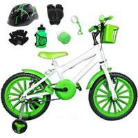 Bicicleta Infantil Aro 16 Com Capacete E Kit Proteção - Masculino