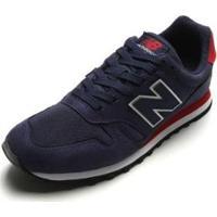 Tênis New Balance 373 Masculino - Masculino-Marinho+Vermelho