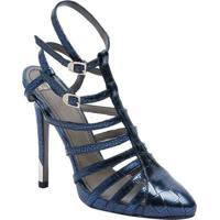 43bf119d47 Sapato Tradicional Em Couro Com Tiras - Azul Marinho   Dversace Collection