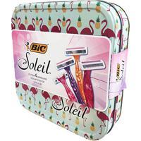 Kit Bic Soleil 4 Aparelhos Depilatórios Descartáveis + Lata De Presente Sortida