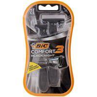 Aparelho De Barbear Bic 3 Comfort Black 2 Unidades