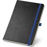Caderneta De Anotações 13,7X21Cm 80 Folhas Sem Pauta Preto E Azul
