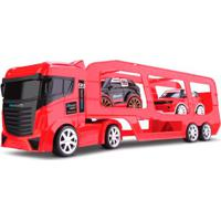 Caminhão Cegonheira - Com 2 Carrinhos - Next Race - Vermelho - Roma Jensen