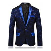 Terno Masculino Texturizado Bellagio - Azul