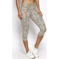 Legging Animal Print- Amarela & Preta- Physical Fitnphysical Fitness
