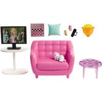 Acessórios De Boneca - Barbie - Móveis De Casa - Poltrona E Televisão - Mattel