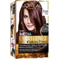 Coloração Imédia Excellence L'Oréal Paris - Fashion Paris 6.520 Violeta Spike - Unissex-Incolor