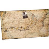 Quadro Mural De Fotos Decorativo De Parede Com Mapa Eua