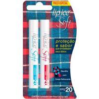 Protetor Labial Lip Ice Cube Soft Fps20 - Baunilha + Cereja Refrescante - Unissex-Incolor