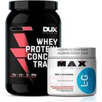 Kit Whey Concentrado Dux 900G + L-Glutamina 300G - Unissex