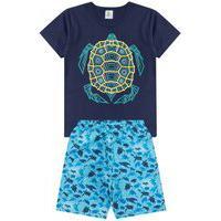 Conjunto Infantil Tartaruga Marinho A201030 Tactel - Ease Kids
