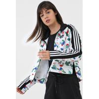 Jaqueta Adidas Originals Aop Tracktop Branca