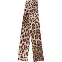 Dolce & Gabbana Lenço Com Estampa De Leopardo - Neutro