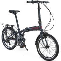 """Bicicleta Dobrável Aro 20"""" Durban Sampa Pro Verde"""