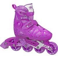 Patins Inline Roller Derby 4 Rodas Tracer Girl - Ajustável Do Tamanho P 28 Ao 31 - I149Gs - Rosa