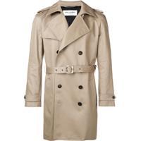 Saint Laurent Trench Coat Curto - Neutro