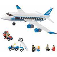Blocos De Encaixe - Xalingo - Embarque Imediato Aviáo De Passageiros - Azul