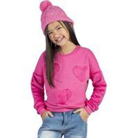 Casaco Infantil Bugbee Pelo Feminina - Feminino-Rosa