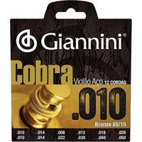 Encordoamento Para Violão 12 Cordas Aço Geef12M Gianinni
