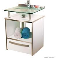 Gabinete Cris Mold Com Cuba No Tampo 994 Branco - 50X46X70Cm - Cris Metal