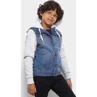 Jaqueta Jeans Infantil Freesurf Com Moletom Masculina - Masculino