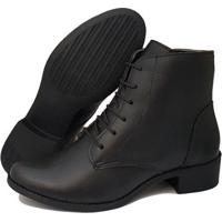 Bota Navit Shoes Lara Zíper Tratorada Feminina - Feminino-Preto