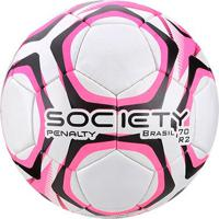 Bola De Futebol Society Penalty Brasil 70 R2 Lx - Unissex