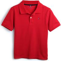Camiseta Tommy Hilfiger Kids Menino Lisa Vermelha