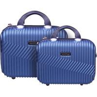 Conjunto De Frasqueiras Com Relevo- Azul Marinho- 2Psantino
