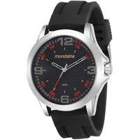 Relógio Masculino Mondaine 99188G0Mvni2 48Mm Silicone Preto