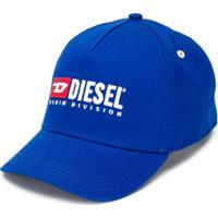 Diesel Kids Boné 'Denim Division' Bordado - Azul
