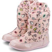 Bota Infantil Bibi Rosa Estampada Rainbow 1089008 27