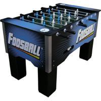 Mesa De Pebolim Foosball Impar Sports Embutido Boneco Nylon - Azul