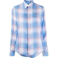 Polo Ralph Lauren Camisa Com Estampa Xadrez - Azul
