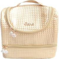 Bolsa Térmica Cisne 2 Compartimentos Com Alça - Unissex-Dourado