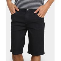 Bermuda Jeans Preston Básica Masculina - Masculino-Preto